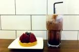 Iced Chocolate + Fruit tart
